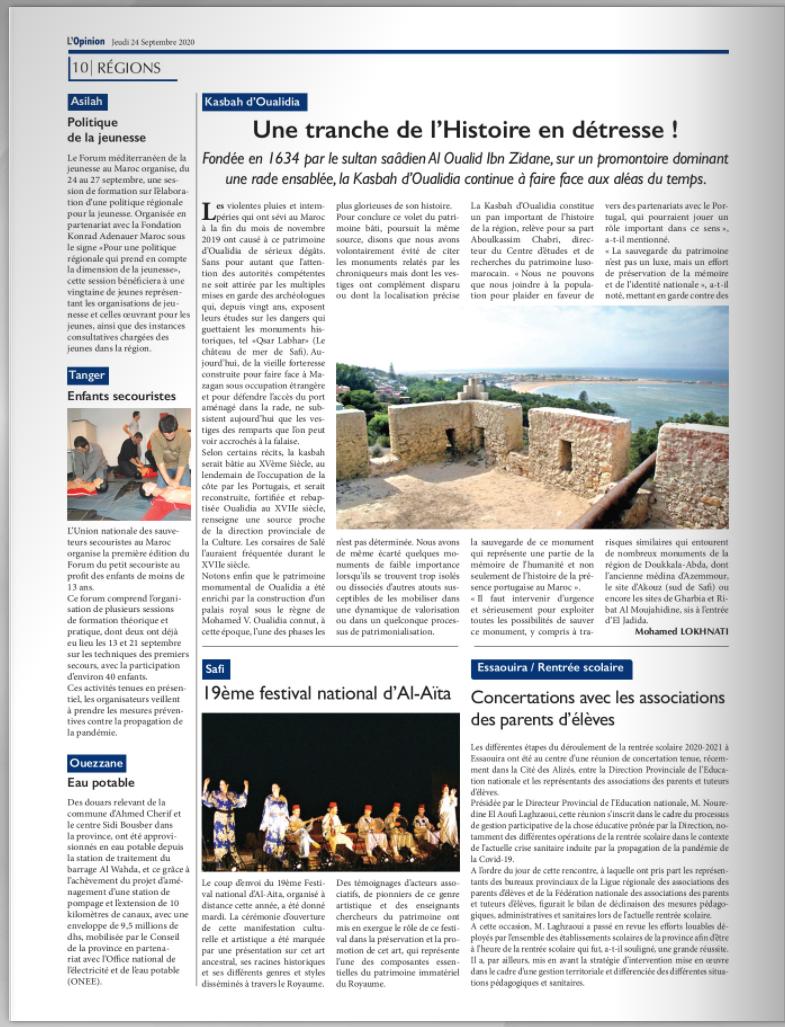 Abonnement 6 mois aux quotidiens AL ALAM et L'Opinion