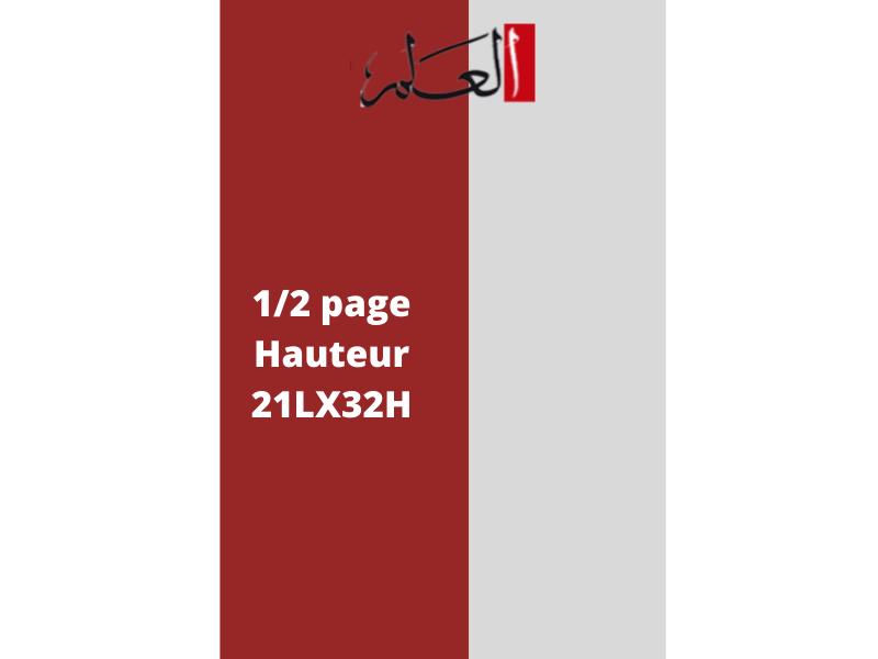 Annonces Administratives et Légales 1/2 Page en Hauteur journal AL Alam
