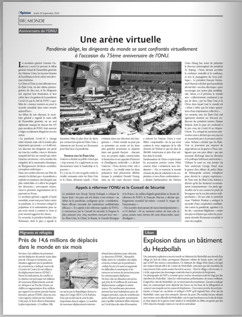 Pack 10 abonnements au quotidien L'Opinion