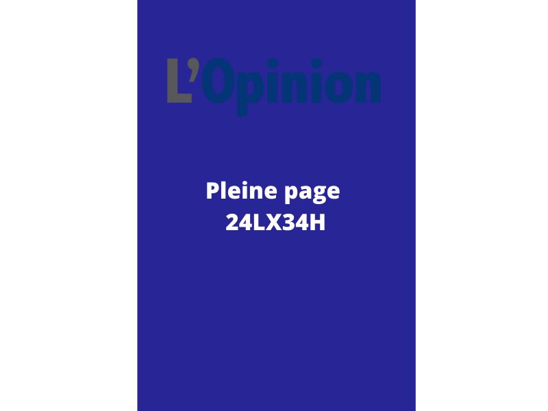 Annonces Administratives et Légales en pleine page journal L'Opinion