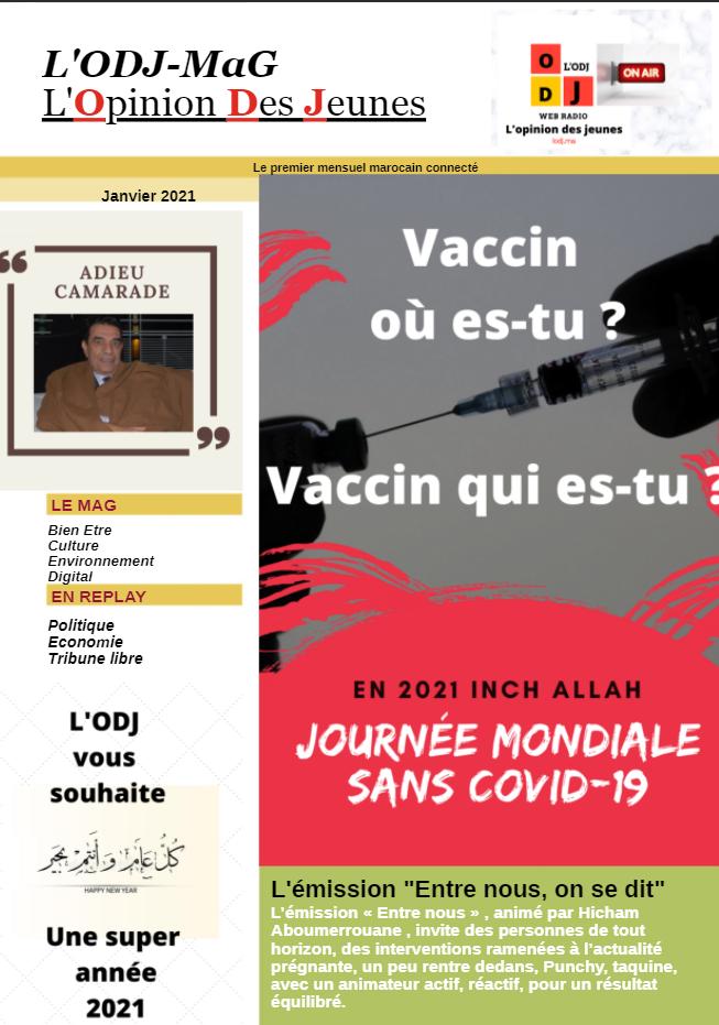 Abonnement annuel Magazine Web mensuel L'ODJ MaG
